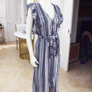 Splendid blue stripe Chambray Maxi Dress